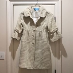 Cream tweed coat